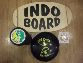 INDO BOARD, Indian board multi-set / mini-deck & mini-roller & flow &DVD, four points of sets