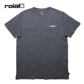 ROIAL,ロイアル/19SP/半袖ポケットTシャツ/HYDRAMGEA・R901MDT01/CHARCOAL・チャコール/S・M・Lサイズ/ユニセックス/USAコットン/ロゴ 【あす楽 対応】