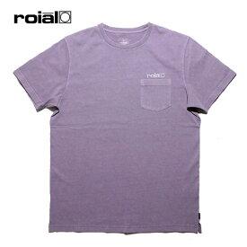 ROIAL,ロイアル/19SP/半袖ポケットTシャツ/HYDRAMGEA・R901MDT01/PURPLE・パープル/S・M・Lサイズ/ユニセックス/USAコットン/ロゴ 【あす楽 対応】