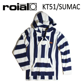 ROIAL、罗伊阿尔/2016年龄HOLIDAY/PULLOVER PARKA、套衫Parker/SUMAC、KT51/NAVY×OFF WHITE、深蓝×灰白/S、M尺寸