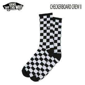 VANS,バンズ/SOCKS・靴下・ソックス/CHECKERBOARD II CREW SOCKS/BLACK WHITE CHECK・ブラック×ホワイトチェック/24.5-27cm/27.5-30cm・2サイズ 【あす楽 対応】
