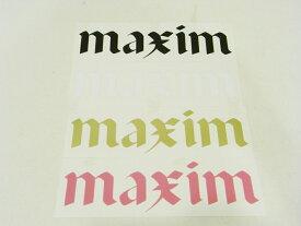【即納可能】MAXIM CRAFTSUITS,マキシム/カッティングステッカー/テクシオンロゴステッカー/ブラック・ホワイト・ゴールド・Kピンク 【あす楽 対応】