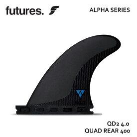 Future Fin,フューチャーフィン/FIN,クアッドリアフィン/ALPHAシリーズ/ALPHAシリーズ/ALPHA QD2 4.00/CARBON/CARBON/BLUE/サーフィン/サーフボード 【あす楽 対応】