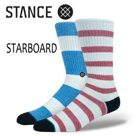 STANCE・スタンス/SOCKS・靴下・ソックス/THE CLASSIC CREW・STARBOARD/NAT・ナチュラル/L(25.5-29cm)/Butter Blend 【あす楽 対応】