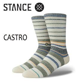 STANCE・スタンス/SOCKS・靴下・ソックス/18SP/THE CLASSIC CREW・CASTRO/NAT・ナチュラル/Lサイズ(25.5-29cm)/Butter Blend/メンズ/ボーダー 【あす楽 対応】