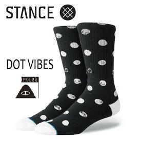 【ポイント10倍】STANCE・スタンス/SOCKS・靴下・ソックス/18SP/Poler X Stance・DOT VIBES/BLK・ブラック/L(25.5-29cm)/メンズ/ポーラー/ドット 【あす楽 対応】