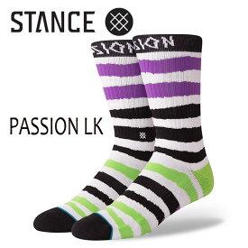 STANCE・スタンス/SOCKS・靴下・ソックス/18FA/LIZARD KING・PASSION LK/BLACK・ブラック/L(25.5-29cm)/メンズ/リザードキング/ボーダー/CREW 【あす楽 対応】
