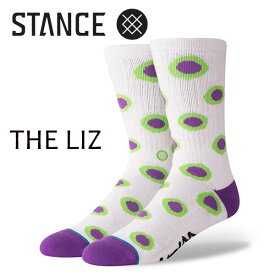 【ポイント10倍】STANCE・スタンス/SOCKS・靴下・ソックス/18FA/LIZARD KING・THE LIZ/PURPLE・パープル/L(25.5-29cm)/メンズ/リザードキング/ドット/CREW 【あす楽 対応】