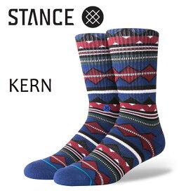 STANCE・スタンス/SOCKS・靴下・ソックス/18HO/THE CLASSIC CREW・KERN/NVY・ネイビー/L(25-29cm)/ボーダー