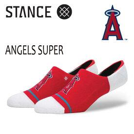 【ポイント20倍】STANCE・スタンス/靴下・ソックス/MLB/SUPER INVISIBLE・ANGELS SUPER/RED/L-XL(25.5-29cm)/メンズ/スニーカーソックス/エンジェルス/メジャーリーグ公式グッズ 【あす楽 対応】