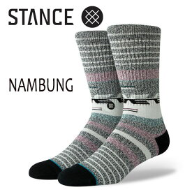 STANCE・スタンス/SOCKS・靴下・ソックス/19SP/THE CLASSIC CREW・NAMBUNG/BLK・ブラック/L(25-29cm)/Butter Blend/ボーダー