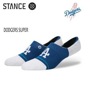 【ポイント20倍】STANCE・スタンス/靴下・ソックス/MLB/SUPER INVISIBLE・DODGERS SUPER/BLU/L-XL(25.5-29cm)/メンズ/スニーカーソックス/ドジャース/メジャーリーグ公式グッズ 【あす楽 対応】