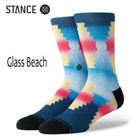 STANCE・スタンス/SOCKS・靴下・ソックス/19SU/THE CLASSIC CREW・GLASS BEACH/MUL・ブルー/Lサイズ(25.5-29cm)/メンズ/ウエスタン 【あす楽 対応】