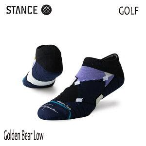 STANCE・スタンス/SOCKS・靴下・ゴルフソックス/19SU/FEEL360/THE GOLF LOW・GOLDEN BEAR LOW/PUR・パープル/メンズ/速乾/消臭/ジャック・ニクラウス