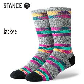 STANCE・スタンス/SOCKS・靴下・ソックス/19FA/THE CLASSIC CREW・JACKEE/GRY・グレー/L(25-29cm)/Butter Blend/ボーダー/オルテガ/メンズ/クルーソックス