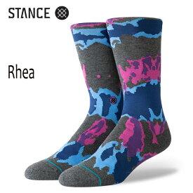 STANCE・スタンス/靴下・ソックス/19FA/THE CLASSIC CREW・RHEA/BLK・ブラック/Lサイズ(25.5-29cm)/メンズ/総柄/サーフ/スケート 【あす楽 対応】