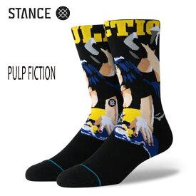 STANCE・スタンス/靴下・ソックス/19FA/THE CLASSIC CREW・PULP FICTION/BLK・ブラック/Lサイズ(25.5-29cm)/メンズ/タランティーノ 【あす楽 対応】
