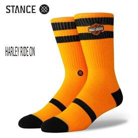 STANCE・スタンス/SOCKS・靴下・ソックス/19FA/THE CLASSIC CREW・HARLEY RIDE ON/ORG・オレンジ/Lサイズ(25.5-29cm)/メンズ/ハーレーダビットソン 【あす楽 対応】