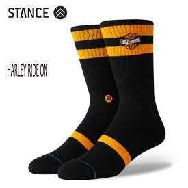 STANCE・スタンス/SOCKS・靴下・ソックス/19FA/THE CLASSIC CREW・HARLEY RIDE ON/BLK・ブラック/Lサイズ(25.5-29cm)/メンズ/ハーレーダビットソン 【あす楽 対応】
