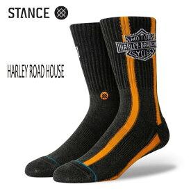 STANCE・スタンス/SOCKS・靴下・ソックス/19FA/THE CLASSIC CREW・HARLEY ROAD HOUSE/BLK・ブラック/Lサイズ(25.5-29cm)/メンズ/ハーレーダビットソン 【あす楽 対応】