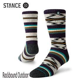 STANCE・スタンス/SOCKS・靴下・アウトドアソックス/PERFORMANCE MERINO WOOL/ROCKBOUND OUTDOOR/BRN・ブラウン/L(25.5-29cm)/メンズ/速乾/消臭/クルーソックス 【あす楽 対応】