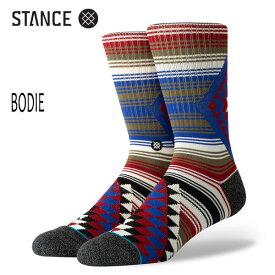 STANCE・スタンス/SOCKS・靴下・ソックス/19HO/THE CLASSIC CREW・BODIE/MUL・マルチカラー/Lサイズ(25.5-29cm)/メンズ/ボーダー/オルテガ/サーフ/スケート