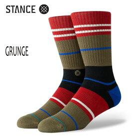 STANCE・スタンス/SOCKS・靴下・ソックス/19HO/THE CLASSIC CREW・GRUNGE/ARM・アーミー/Lサイズ(25.5-29cm)/メンズ/ボーダー/オルテガ/サーフ/スケート 【あす楽 対応】