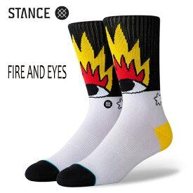 STANCE・スタンス/SOCKS・靴下・ソックス/19HO/THE CLASSIC CREW・FIRE AND EYES/MUL・マルチ/L(25-29cm)/リカルド・カボロ コラボレーションモデル 【あす楽 対応】