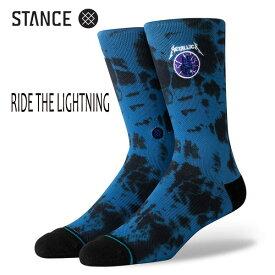 STANCE・スタンス/SOCKS・靴下・ソックス/19HO/THE CLASSIC CREW・RIDE THE LIGHTNING/ROY・ロイヤルブルー/L(25-29cm)/METALLICA メタリカ コラボレーションモデル 【あす楽 対応】