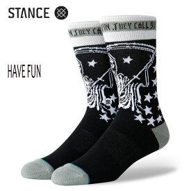 STANCE・スタンス/SOCKS・靴下・ソックス/19HO/THE CLASSIC CREW・HAVE FUN/BLK・ブラック/L(25-29cm)/RIC CLAYTON リック・クレイトン コラボレーションモデル/サーフ・スケート【あす楽 対応】
