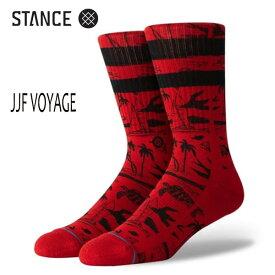 STANCE・スタンス/SOCKS・靴下・ソックス/19HO/THE CLASSIC CREW・JJF VOYAGE/RED・レッド/L(25-29cm)/ジョン・ジョン・フローレンス/ボーダー/サーフ・スケート 【あす楽 対応】