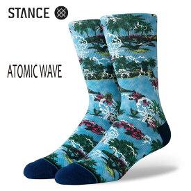 STANCE・スタンス/SOCKS・靴下・ソックス/19HO/THE CLASSIC CREW・ATOMIC WAVE/MUL・マルチ/Lサイズ(25.5-29cm)/メンズ/サーフ/スケート 【あす楽 対応】