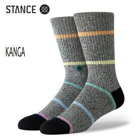 STANCE・スタンス/SOCKS・靴下・ソックス/19FA/THE CLASSIC CREW・KANGA/BLK・ブラック/L(25-29cm)/Butter Blend/ボーダー/メンズ/クルーソックス 【あす楽 対応】