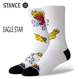 STANCE・スタンス/SOCKS・靴下・ソックス/19HO/THE CLASSIC CREW・EAGLE STAR/WHT・ホワイト/L(25-29cm)/リカルド・カボロ コラボレーションモデル 【あす楽 対応】