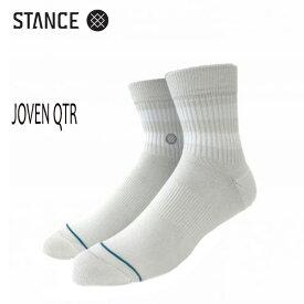 STANCE・スタンス/SOCKS・靴下・ソックス/JOVEN QTR/GRY・グレー/L(25-29cm)/メンズ/ロゴ/無地/アイコン/クォーター丈