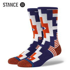 STANCE・スタンス/SOCKS・靴下・ソックス/20FA/THE CLASSIC CREW・CUOMO CREW/NVY・ネイビー/Lサイズ(25.5-29cm)/INFIKNIT/メンズ