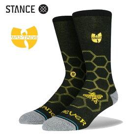 STANCE・スタンス/SOCKS・靴下・ソックス/20FA/THE CLASSIC CREW・HIVE CREW/BLK・ブラック/INFIKNIT/メンズ/WU-TANG/ウータン・クランコラボ