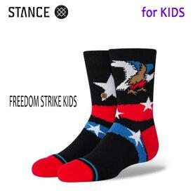 STANCE・スタンス/子供用靴下・キッズソックス/20SU/THE CLASSIC LIGHT・FREEDOM STRIKE KIDS/BLK・ブラック