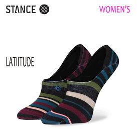 【ポイント15倍】STANCE・スタンス/SOCKS・靴下・レディースソックス/SUPER INVISIBLE・LATITUDE/BLK・ブラック/WOMENS・女性用/22-25cm/スニーカーソックス/ボーダー 【あす楽 対応】
