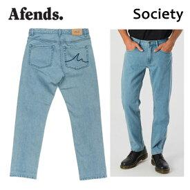 AFENDS,アフェンズ/18FA/ボトムス・デニム・ジーンズ/Society・18C5-02/STONE BLUE・ストーンブルー/28・30・32インチ/メンズ 【あす楽 対応】