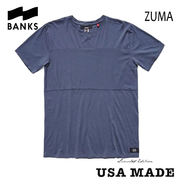 BANKS,バンクス/2016年SUMMER/ S/S Tシャツ・半袖Tシャツ/ZUMA TEE-SHIRT・AWTS0092/STEEL BLUE・ブルー/S・M・Lサイズ/LIMITED EDITION/MADE IN USA 【あす楽 対応】20