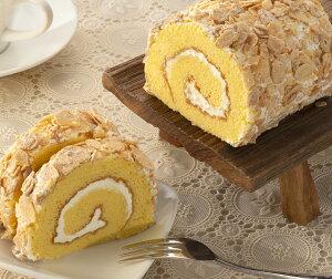 【アーモンドロール】生クリームとたっぷりのアーモンドスライスを散りばめたスポンジロールケーキ贈り物焼き菓子洋菓子ギフトボックス入り内祝引き出物引き菓子結婚お返しフランシーズ/Franchise