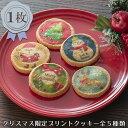 お配り用におすすめ【クリスマス プリントクッキー】可愛いツリーやサンタをプリントしたクッキー 配布用 お配りプチ…