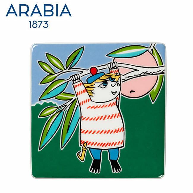 【新春セール】Arabia アラビア ムーミンデコツリー トゥーティッキー 89×89mm / Moomin Deco Tree Too-ticky 壁掛け用プレート インテリア 壁飾り 北欧