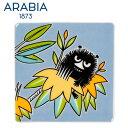 \★サマーセール★/Arabia アラビア ムーミンデコツリー スティンキー 89×89mm / Moomin Deco Tree Stinky 壁掛け用プレー...