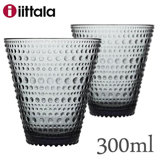 【SALE】Iittala イッタラ Kastehelmi カステヘルミ タンブラー 300ml 【グレー 2個セット】 / グレイ ガラス グラス コップ 北欧 食器 grey ギフト 贈り物 結婚祝い 御祝い ギフト