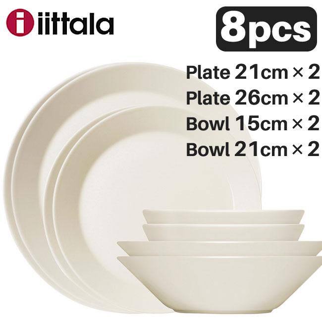 【新春セール】Iittala イッタラ Teema ティーマ スターターセット8pcs ホワイト(プレート・ボウルの8点セット)/ 北欧 食器 ギフト 御祝
