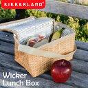 Kikkerland キッカーランド Wicker Lunch Box ウィッカーランチボックス / 保冷 保温 ランチバッグ バスケット柄