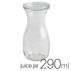 WECK ウェック【WE-763】ジュースジャー 290ml 口径Sサイズ / JUICE JAR キャニスター 保存容器 ガラスジャー[KO6]【SALE】