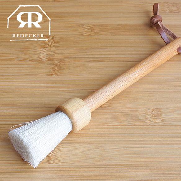 【SALE】Redecker レデッカー【461019】デスクブラシ(白豚毛) / スリムなハンドブラシ 天然素材 掃除道具